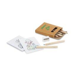 Kit para Colorir com Lápis de Cor