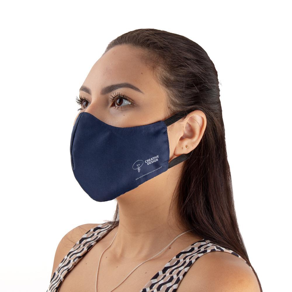 Máscara Tecido Duplo com Elástico de Orelha