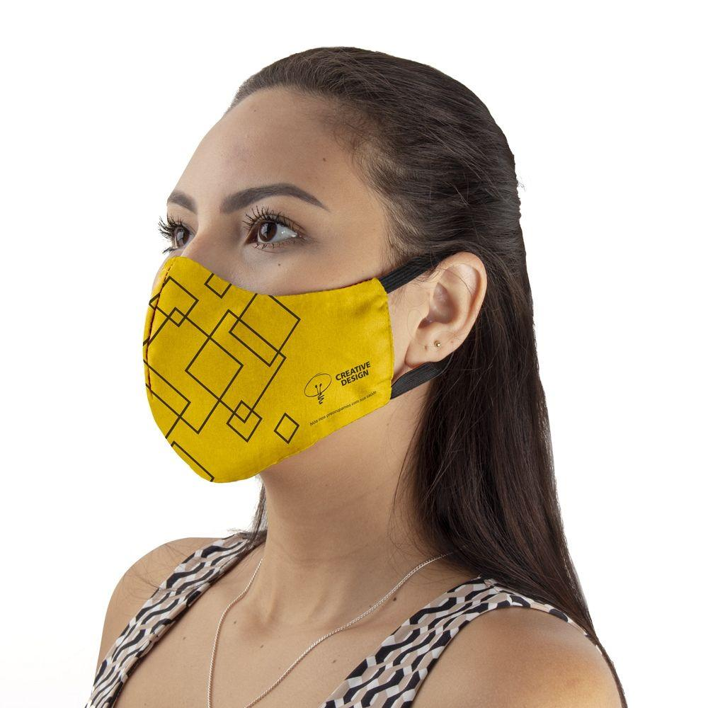 Máscara Tecido Duplo com Elasticidade