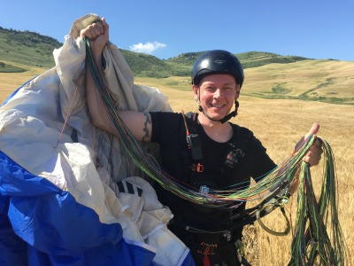 Student pilot paragliding | Fly Spain