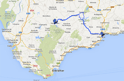 Map and directions to Fly Spain in Algodonales