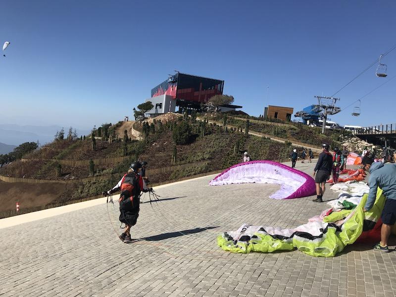 Paragliding turkey launch