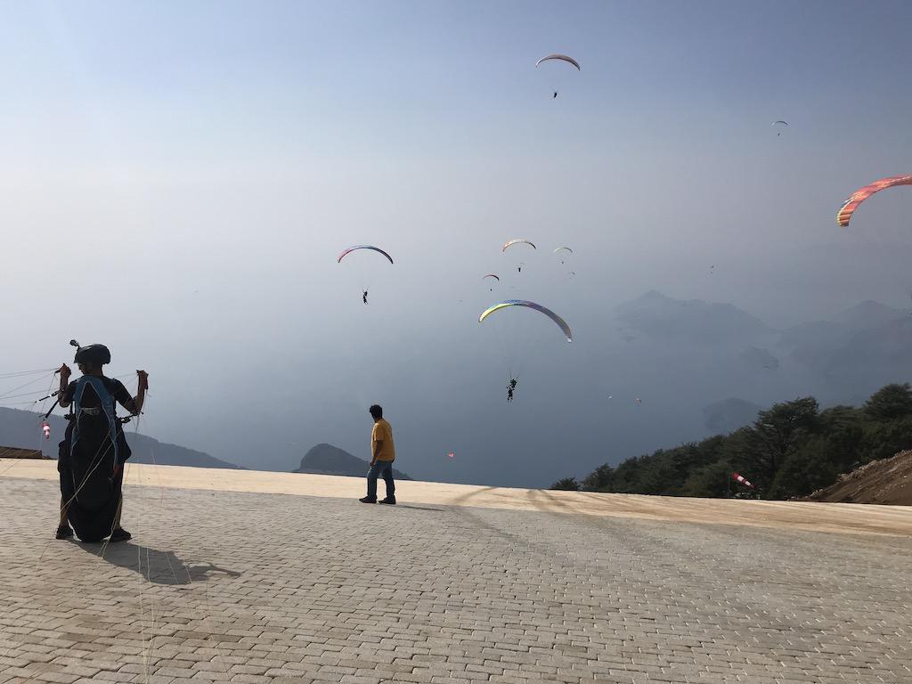 1700 meter paragliding siv take off