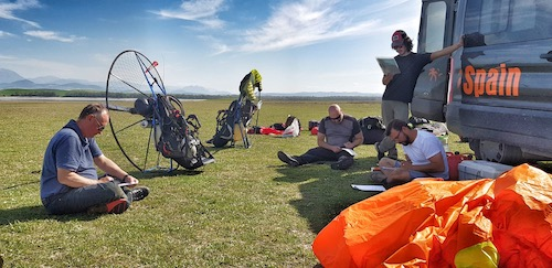 Paramotor lecture notes at flying site