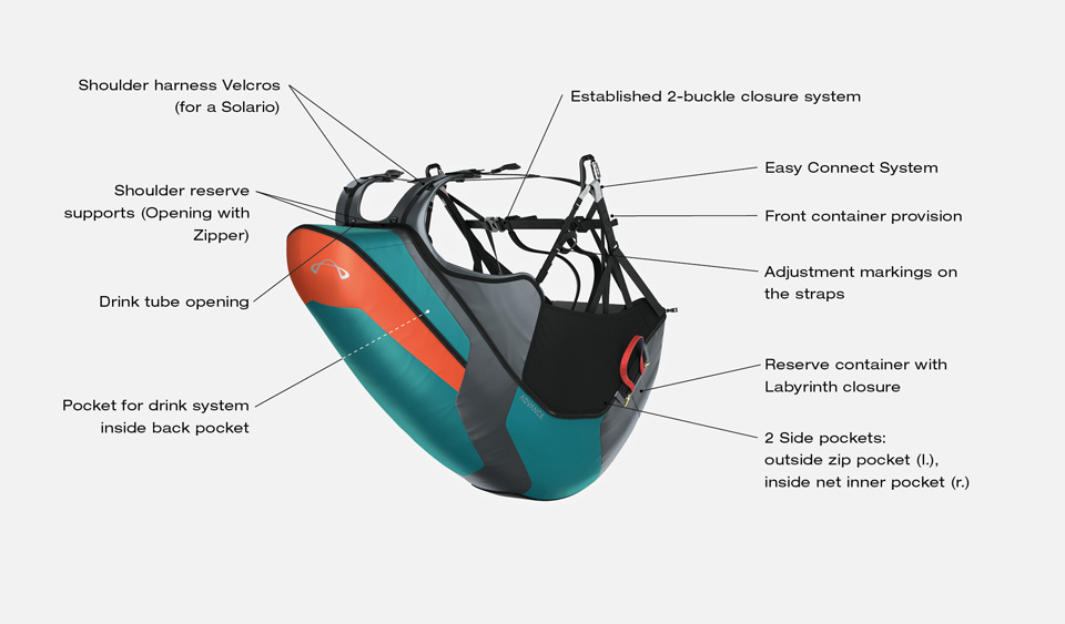 Advance Success 4 harness, the light weight harness for Xc flying, now available at FlySpain international shop