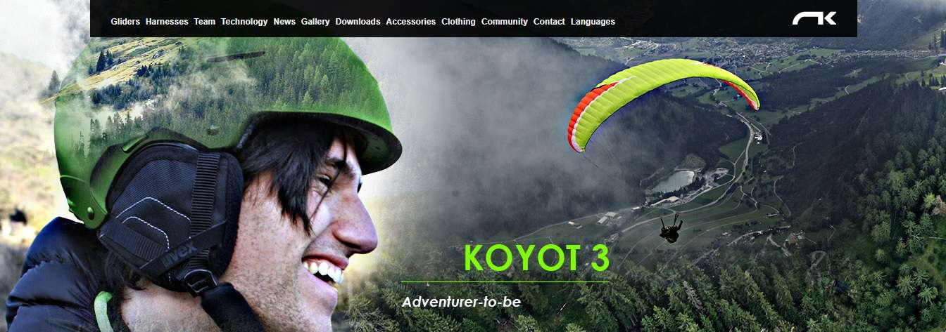 Koyot 3 - Start your adventure! 4 Colour options. Available at Flyspain Shop