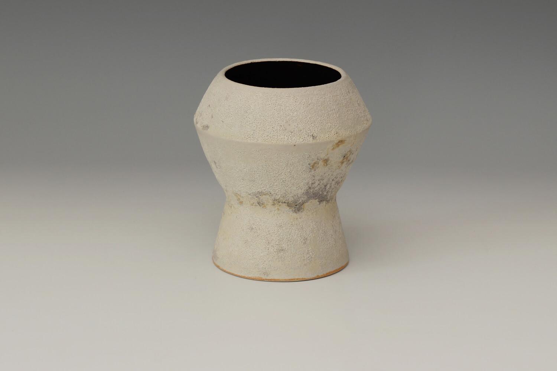 Chris Carter Ceramic Footed Jar 129