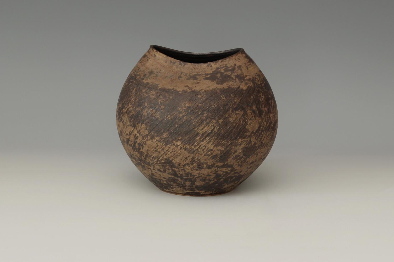 Chris Carter Ceramic Jar with Oval Rim 128