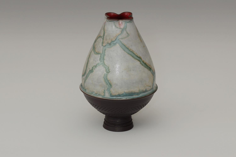 Geoffrey Swindell Ceramic Narrow Stemmed Vessel 13