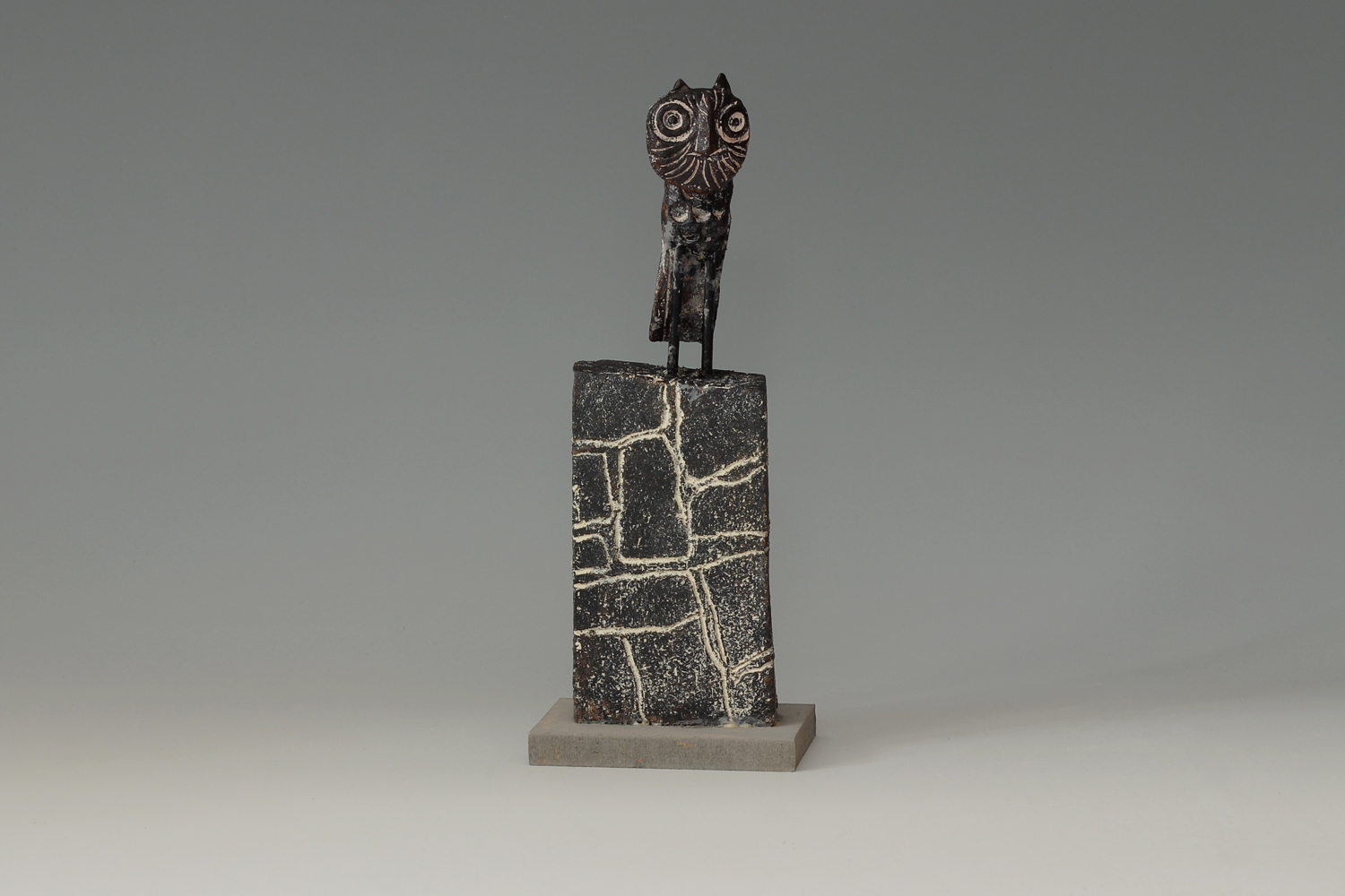 John Maltby Ceramic Sculpture of a 'Wise Owl' 06
