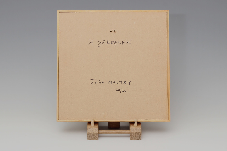 John Maltby Ceramic Framed Plaque of a Gardener 32