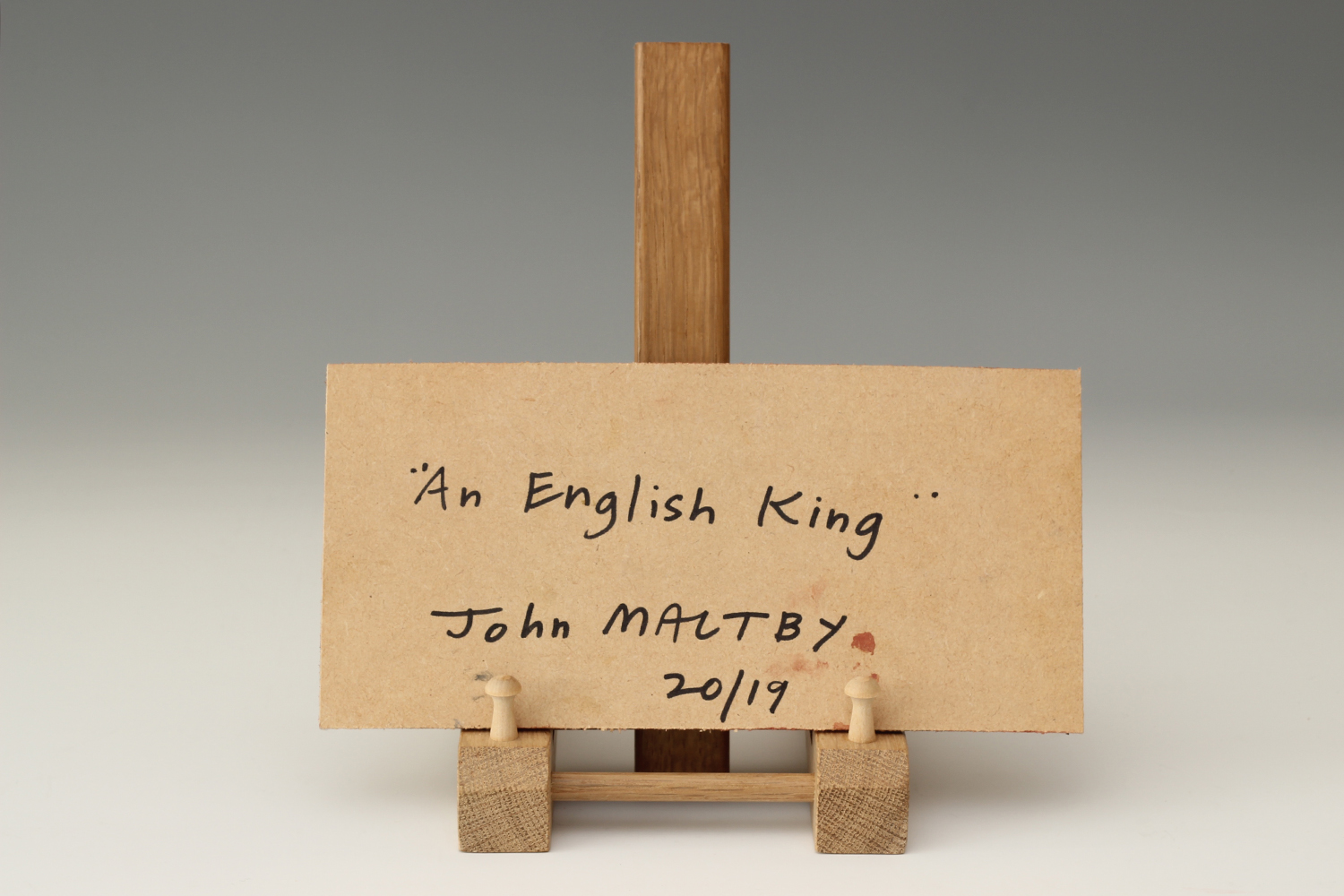 John Maltby Plaque of 'An English King' 09