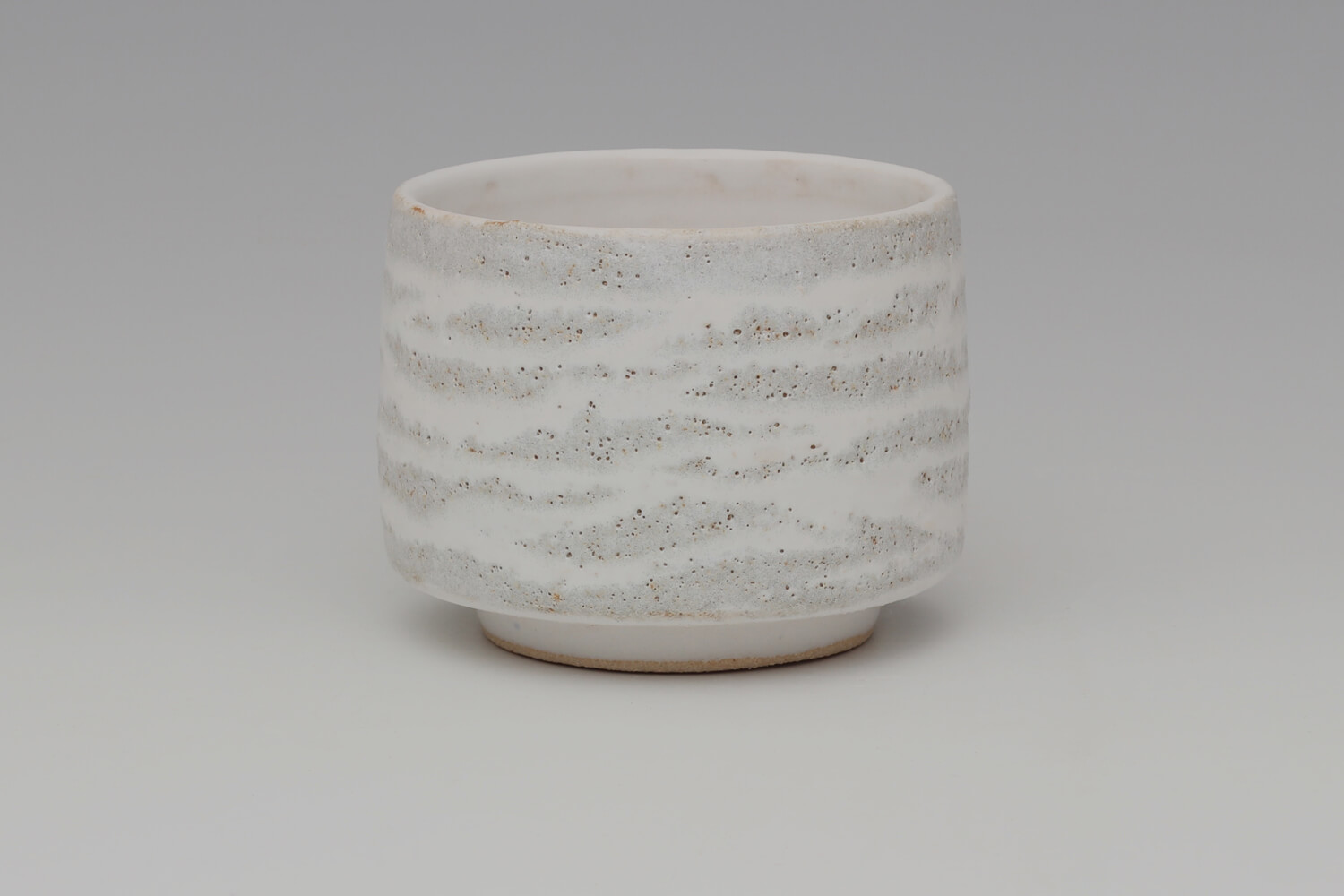 Rosalie Dodds Ceramic Grey & White Footed Bowl 08