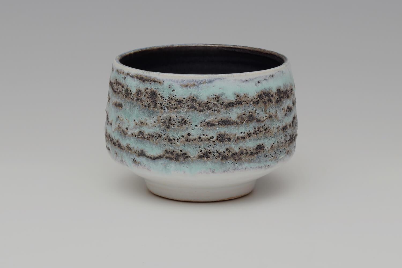 Rosalie Dodds Ceramic Turquoise & Black Bowl 14