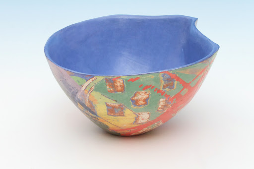 Carolyn Genders Vessel entitled 'Blue Interior Abstraction IV'