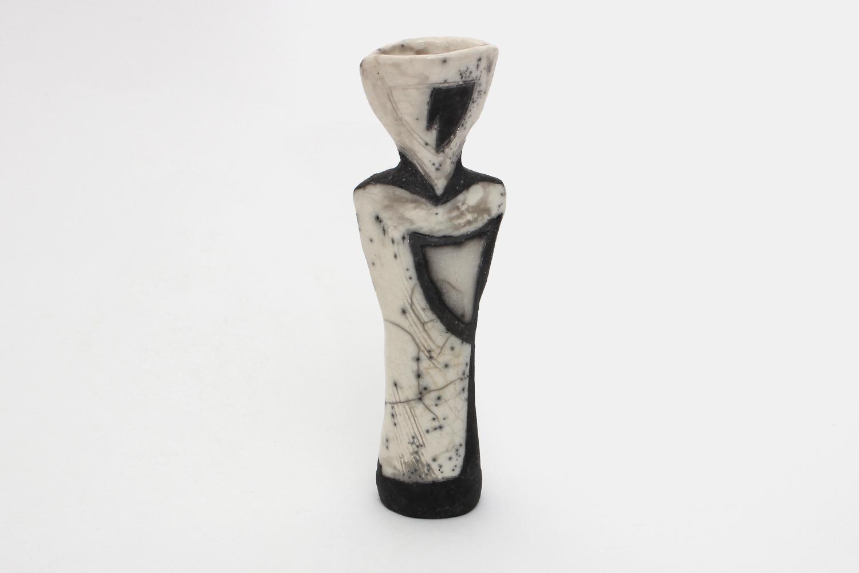 Elizabeth Raeburn Ceramic Raku Bottle 06