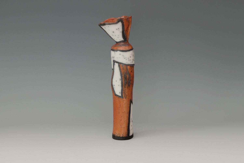 Elizabeth Raeburn Tall Ceramic Raku Bottle 09