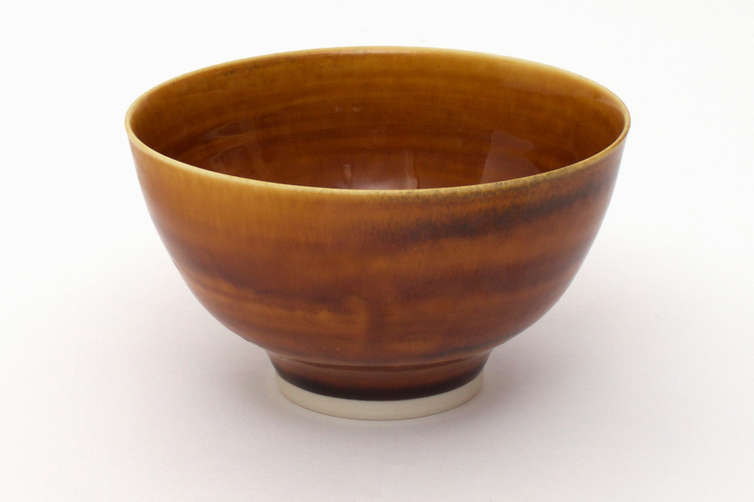 Peter Wills Toffee Brown Glazed Ceramic Bowl 145