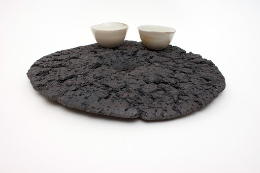 Sandy Lockwood Ceramic Sculpture 'Disc and Two'