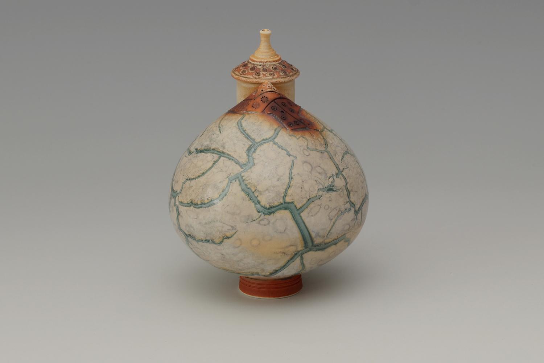 Geoffrey Swindell Ceramic Miniature Complex Lidded Vessel 024
