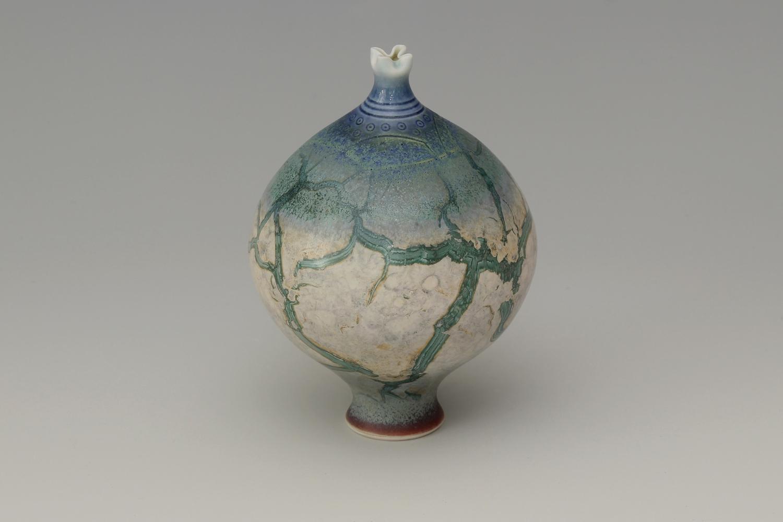 Geoffrey Swindell Ceramic Narrow Stemmed Vessel 25