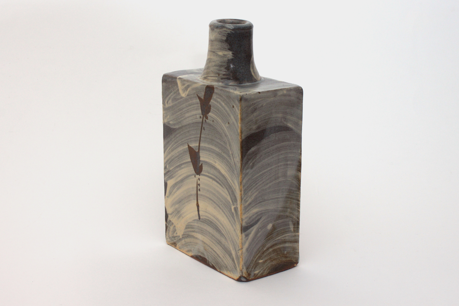 Jim Malone Ceramic Slab Sided Bottle 01
