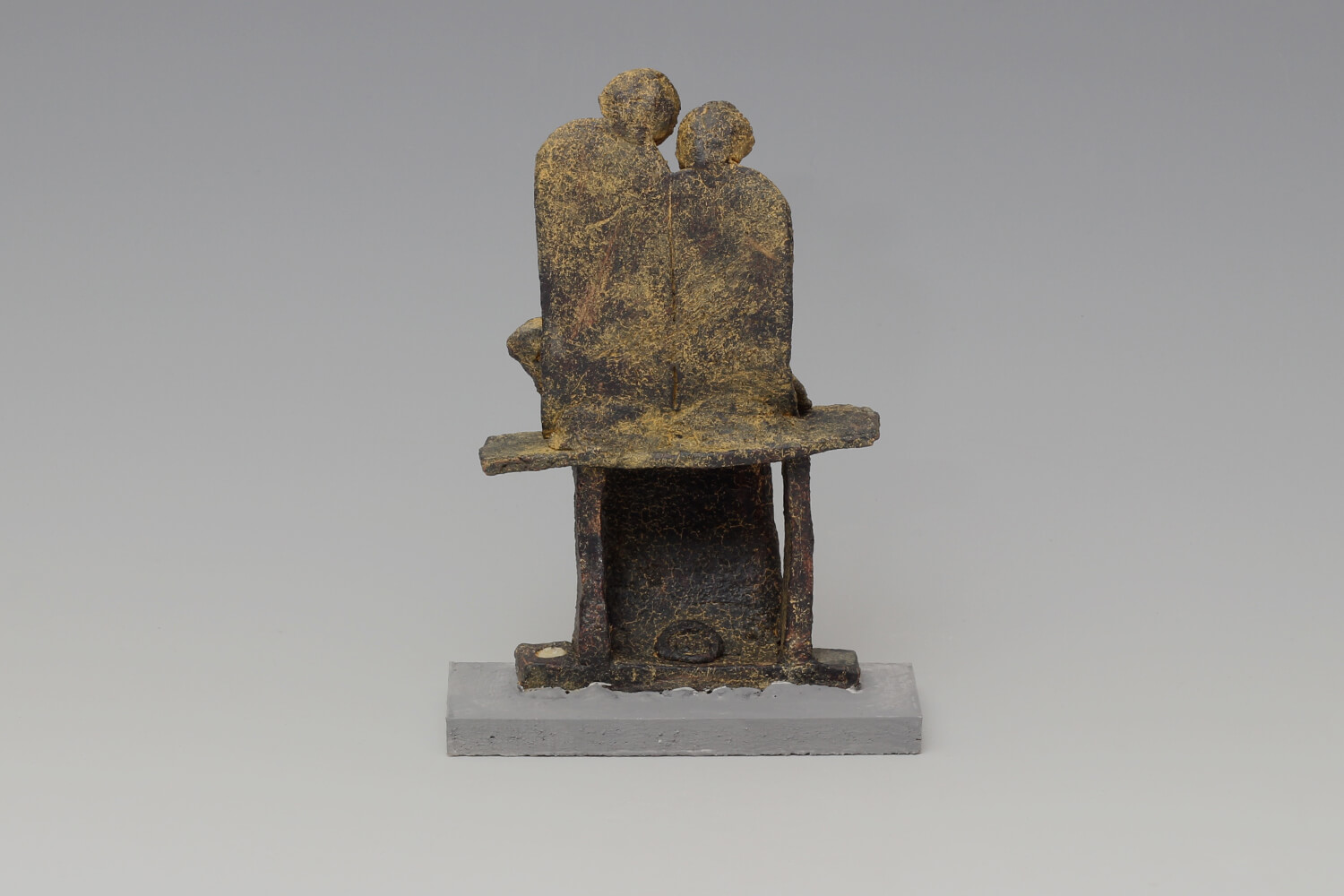 John Maltby Large Ceramic Sculpture of a Seated Family 027
