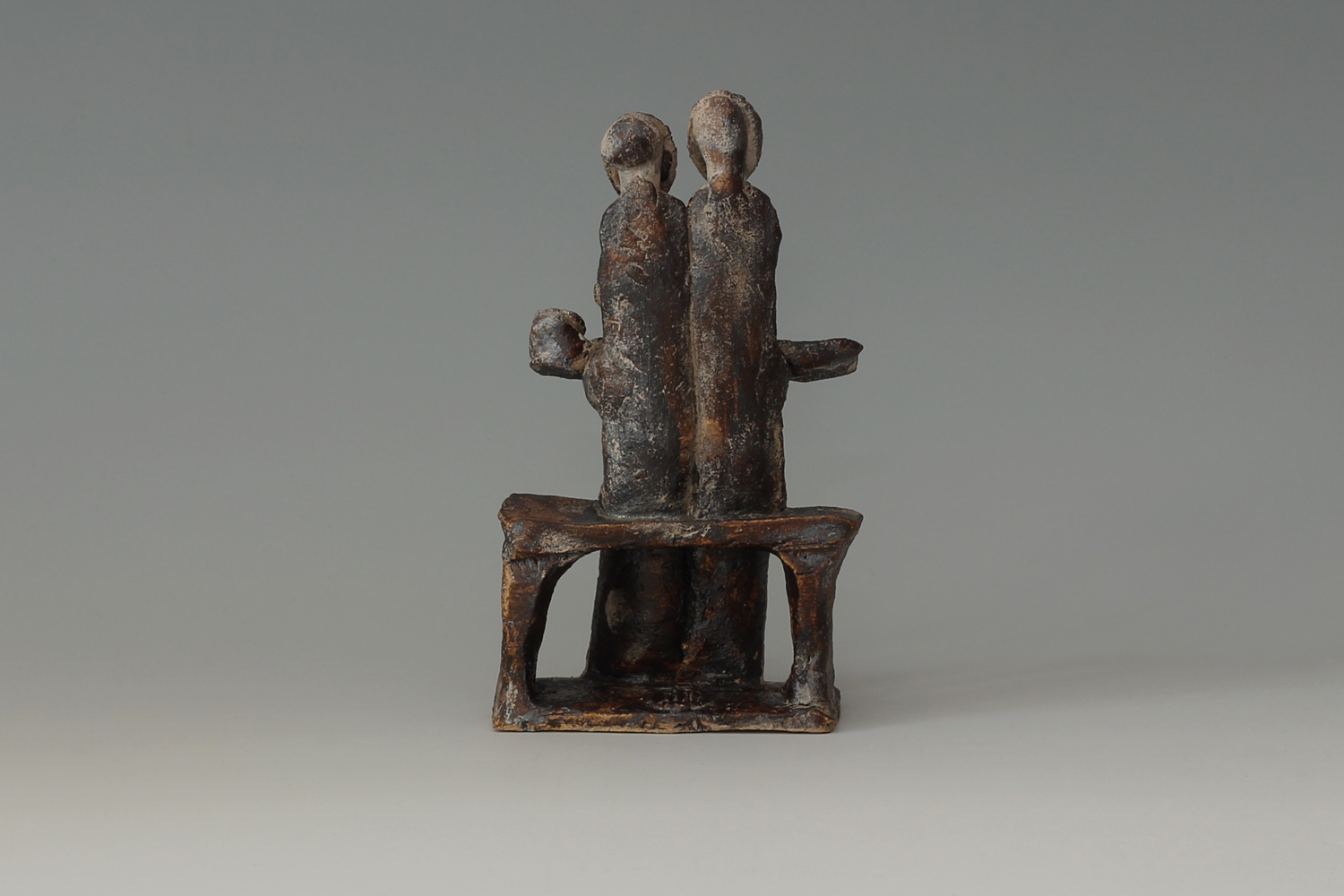 John Maltby Ceramic Sculpture of a Seated Family 08