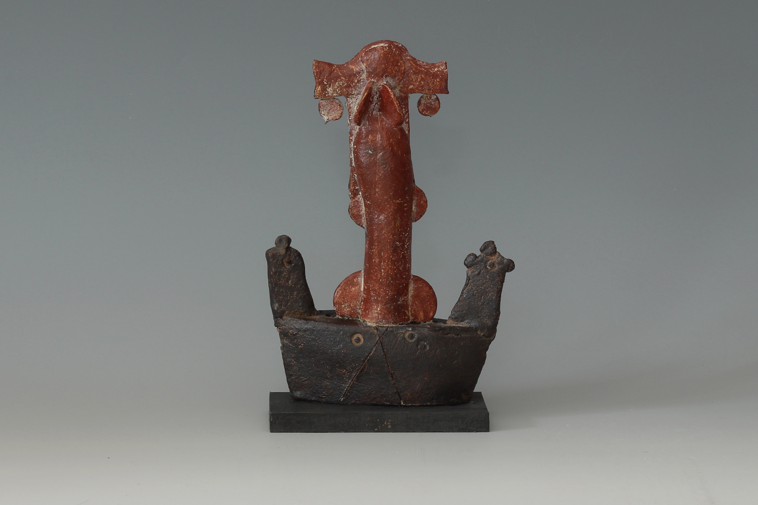 John Maltby Ceramic Sculpture of an Admiral on his Boat 013