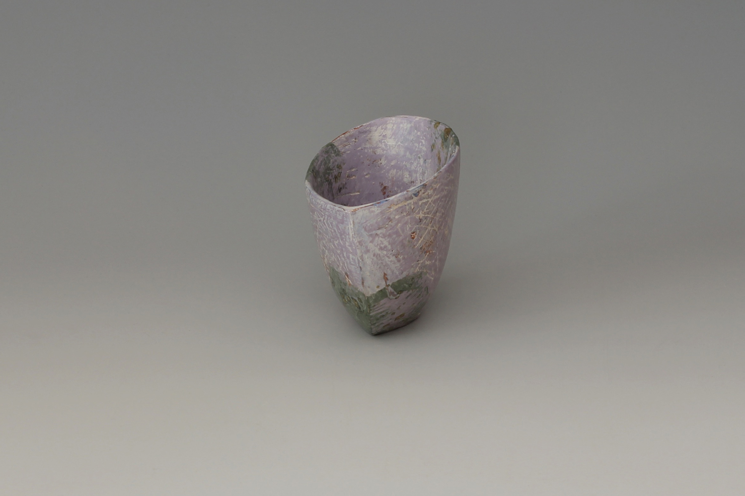 Carolyn Genders Ceramic Earthenware Vessel 'Speckled Violet I'