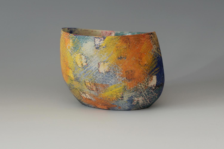 Carolyn Genders Ceramic Earthenware Vessel 'Kaleidoscope'