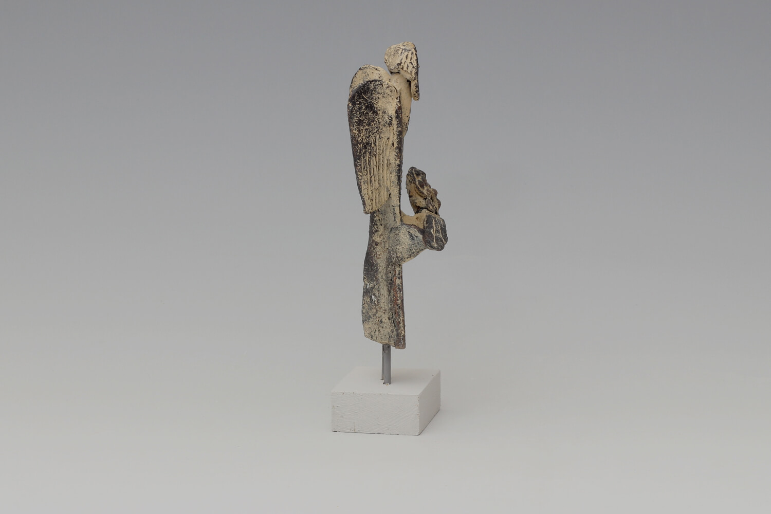 John Maltby Ceramic Sculpture of an Angel with Flowers 023