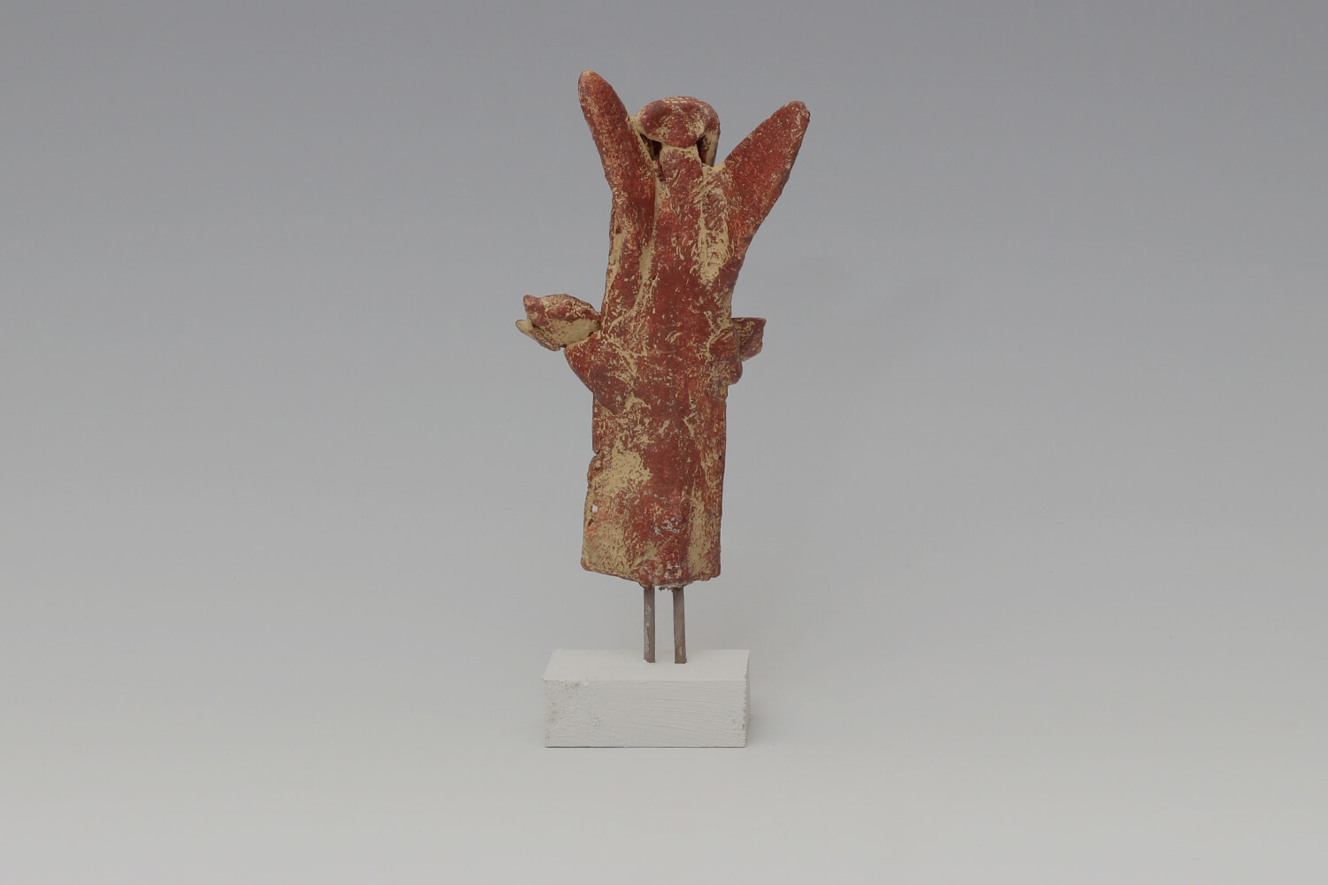 John Maltby Ceramic Sculpture of an Angel with a Bouquet 032