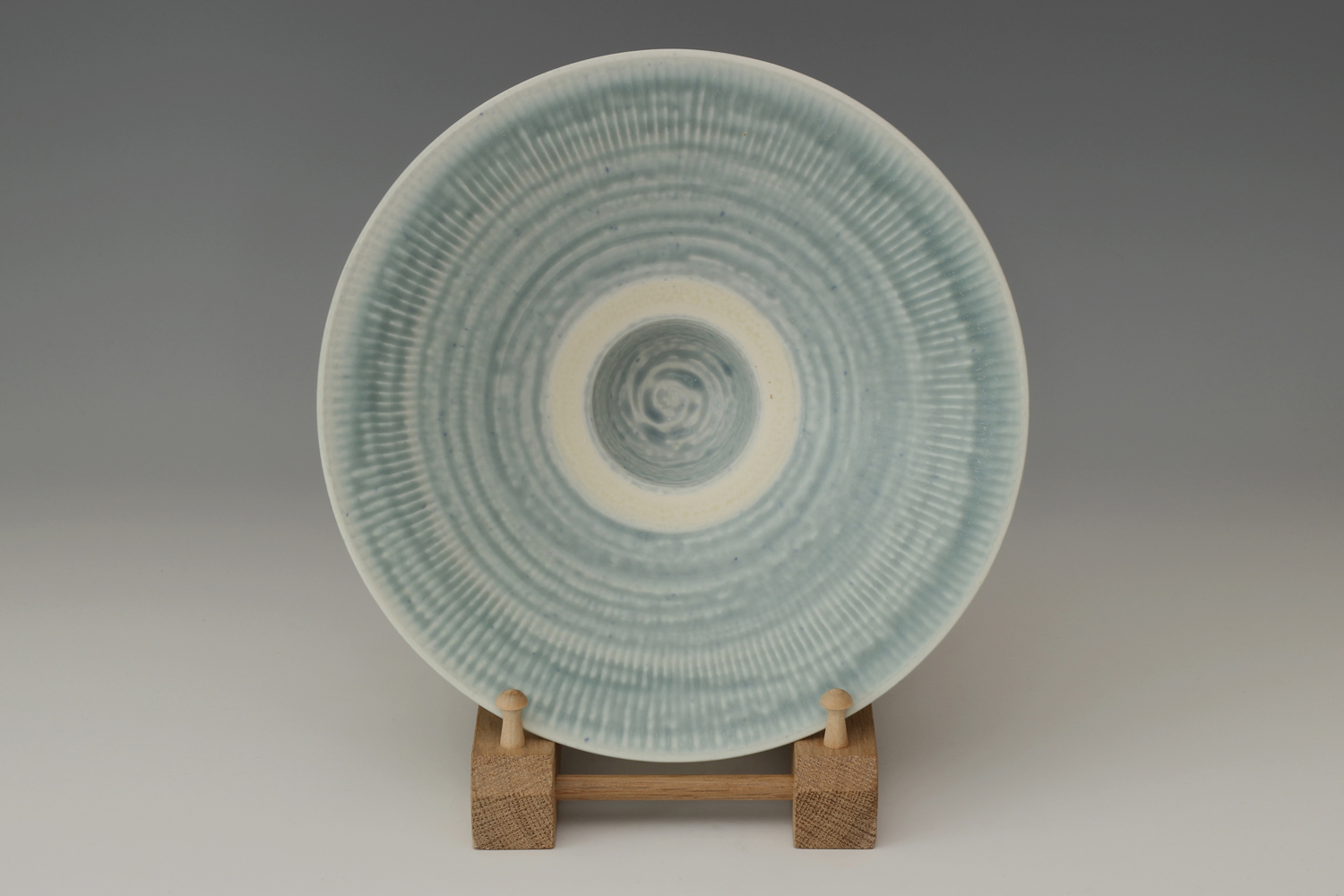 Peter Wills Ceramic Pale Blue Porcelain Bowl 189
