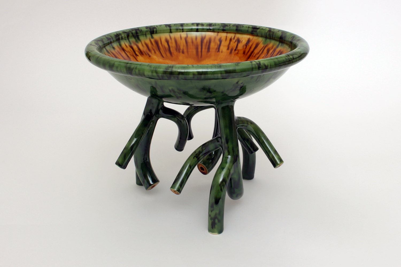 Walter Keeler Branch Legged Ceramic Dish 1