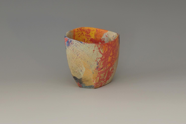 Carolyn Genders Ceramic Earthenware Vessel 'Fauve Mini'