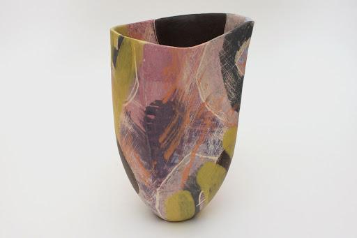 Carolyn Genders 'Chartreuse' Open Ceramic Vessel