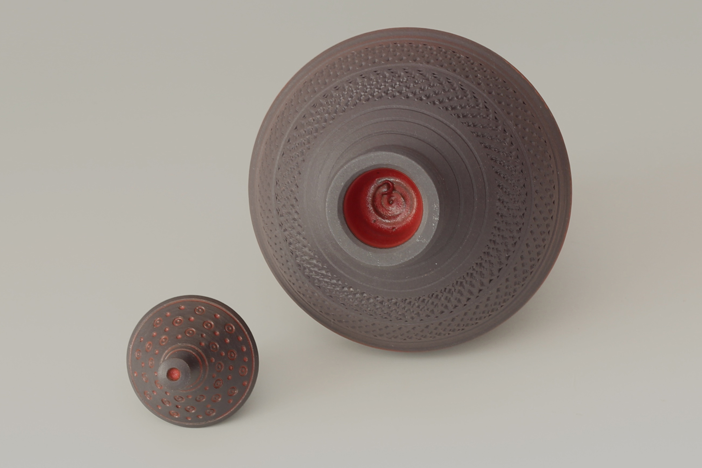 Geoffrey Swindell Ceramic Miniature Lidded Vessel 023