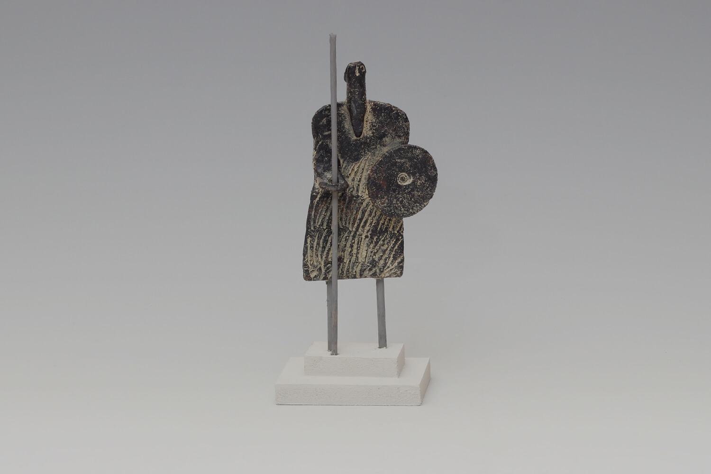 John Maltby Ceramic Sculpture of a Guardian 025
