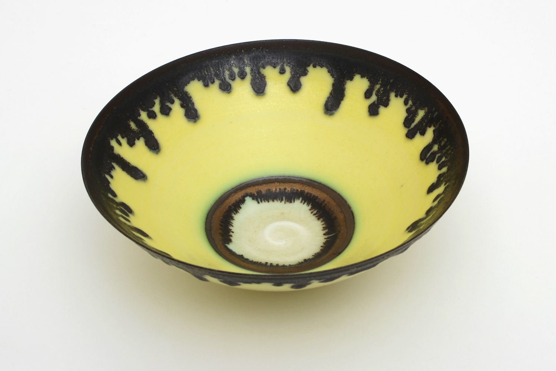 Peter Wills Yellow Ceramic Bowl 133
