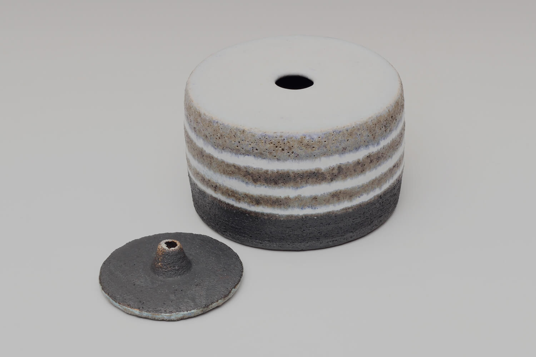 Rosalie Dodds Ceramic Blue & White Jar 1