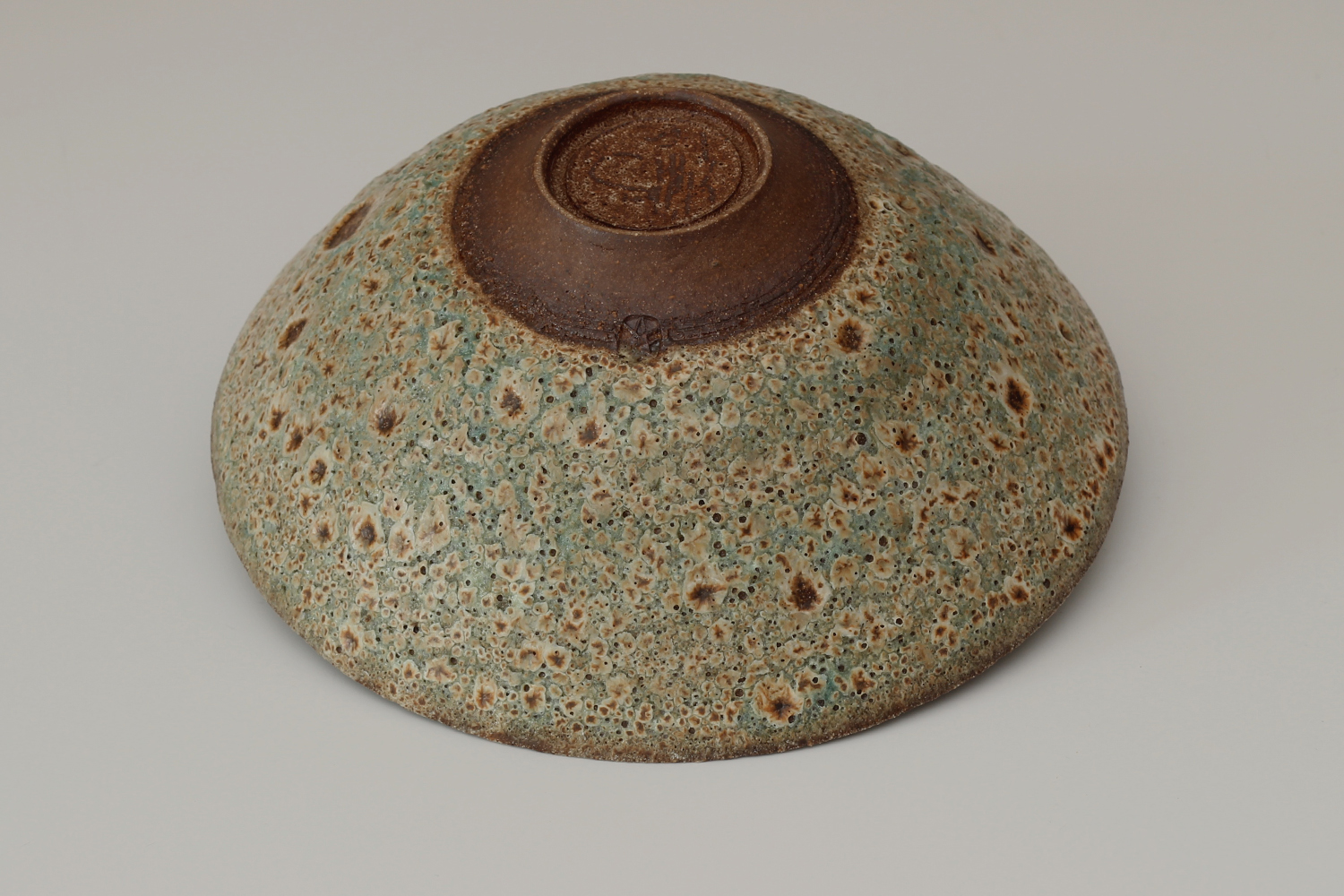 Peter Wills Ceramic Green & Brown Volcanic Stoneware Bowl 180