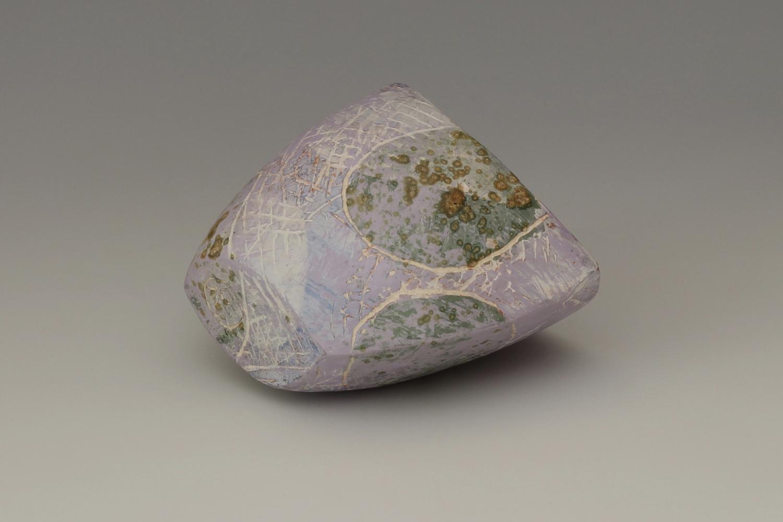 Carolyn Genders Ceramic Earthenware Vessel 'Speckled Violet ll'