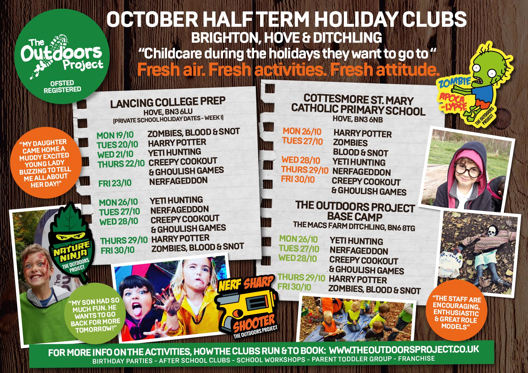 Brighton & Hove October Half Term Holiday Clubs