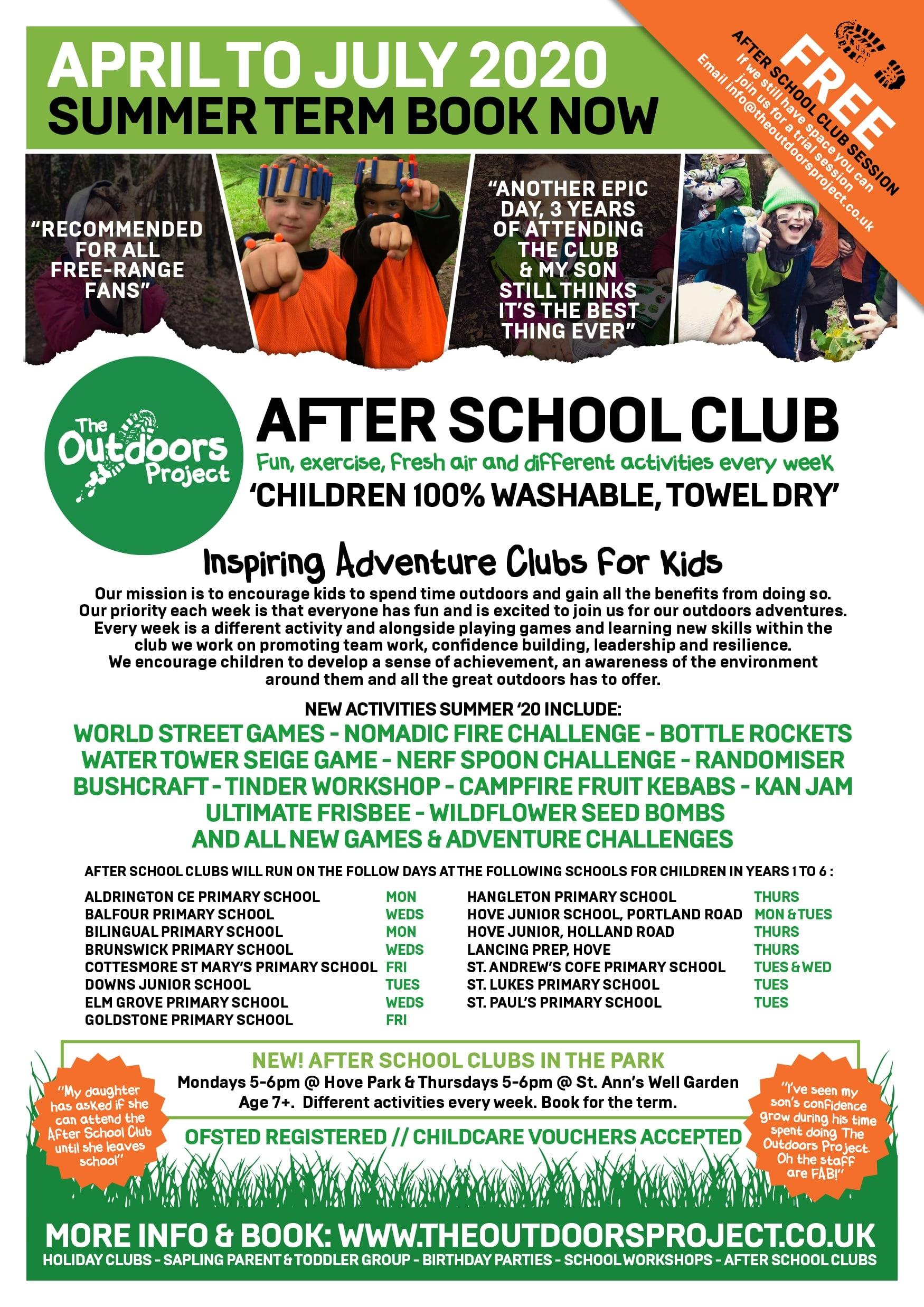 Brighton & Hove After School Club Summer Term '20