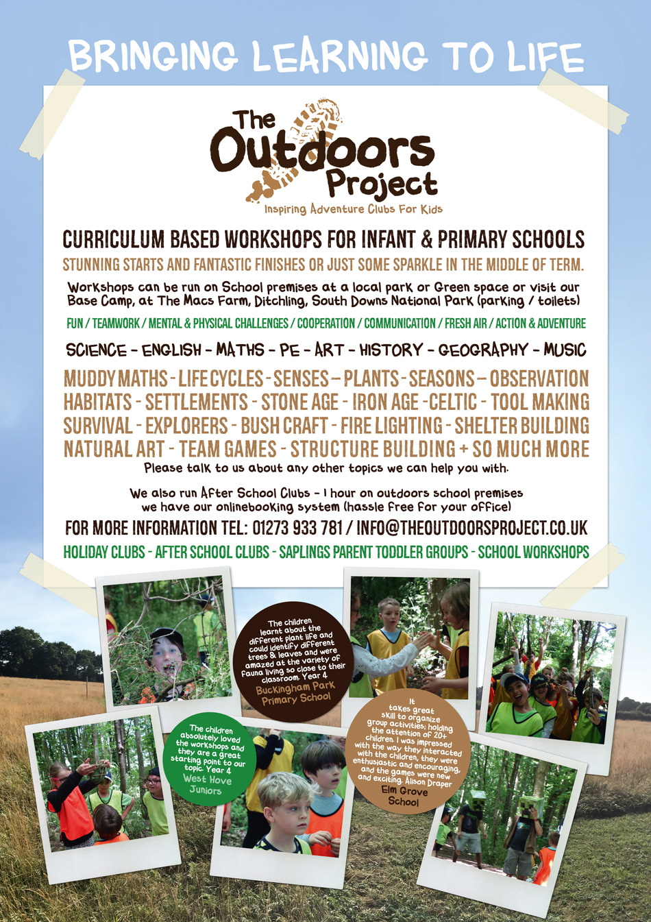 School Outdoors Learning Brighton & Hove