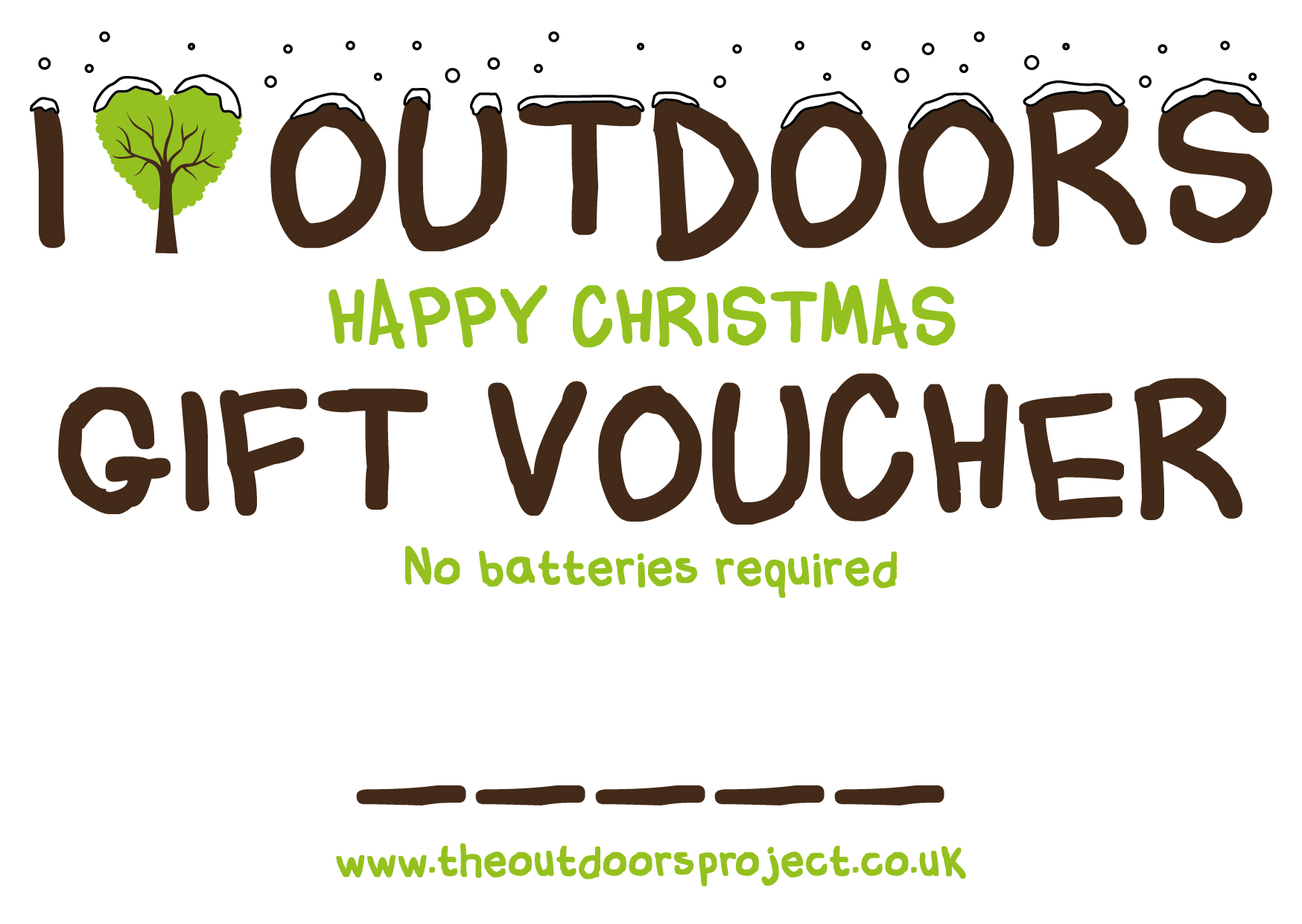 XMAS GIFT VOUCHER  - NO BATTERIES REQUIRED