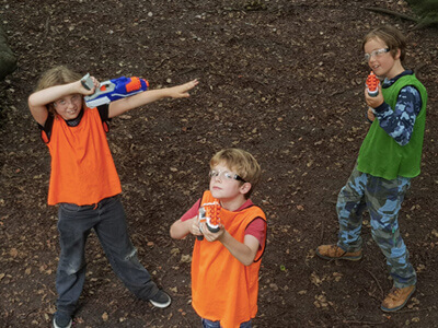 Nerf + Action games