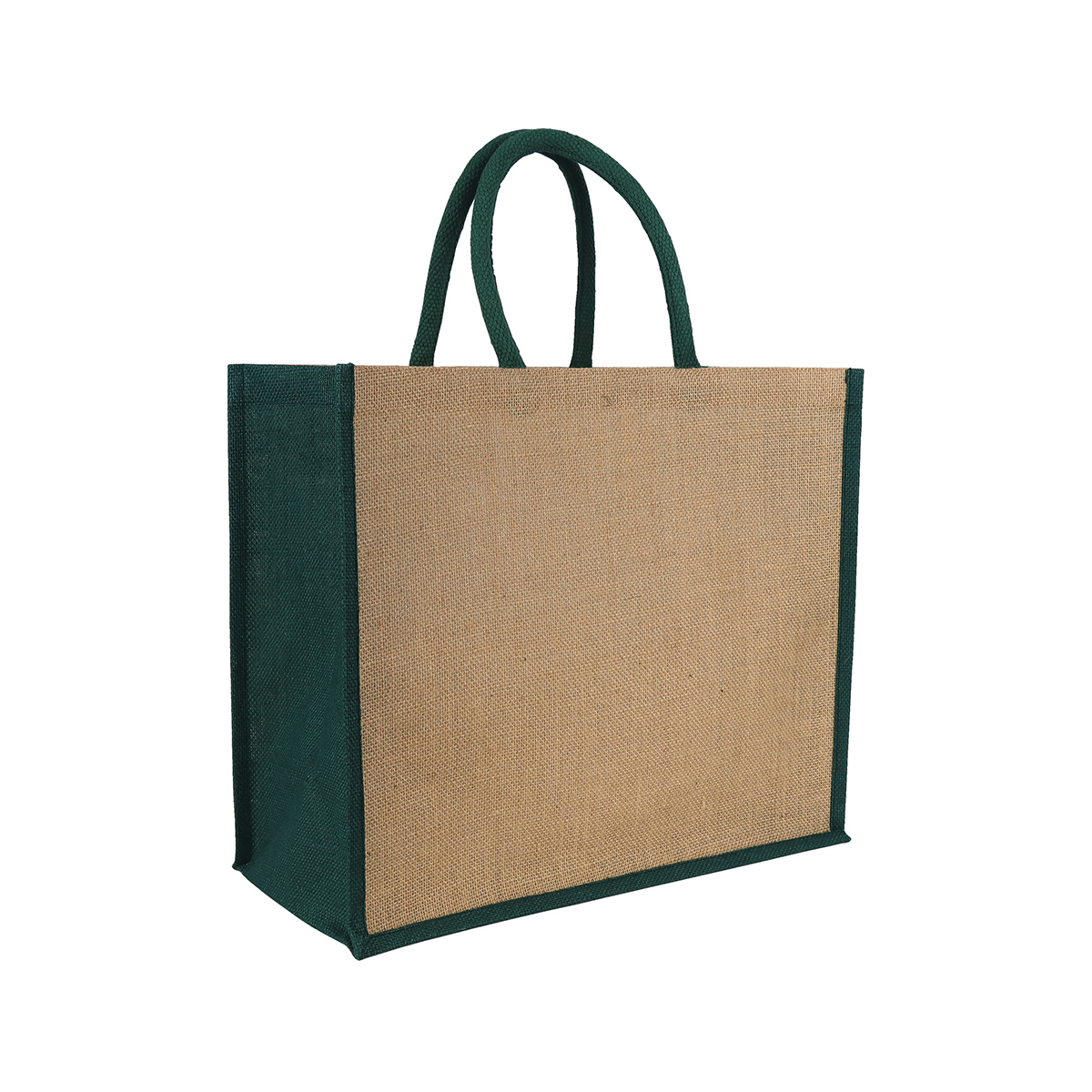 Laminated Jute Tote Bag Green