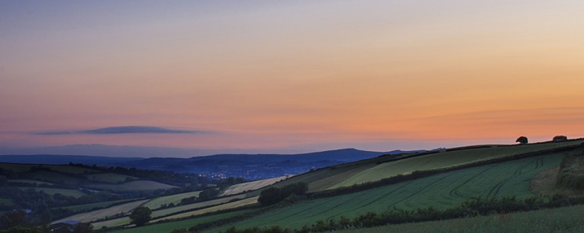 Evening over Stokenteignhead